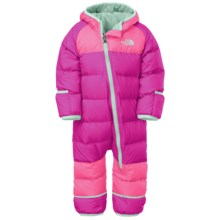 The North Face Lil' Snuggler Down Suit - 550 Fill Power (For Infants) in Luminous Pink - Closeouts