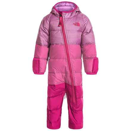 The North Face Lil' Snuggler Down Suit - 550 Fill Power (For Infants) in Wisteria Purple Heather - Closeouts