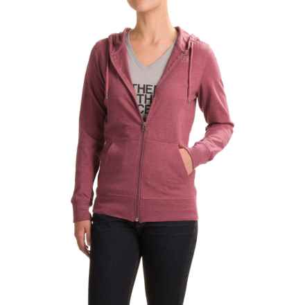 The North Face Lite Weight Full-Zip Hoodie (For Women) in Heather Red Amaranth - Closeouts