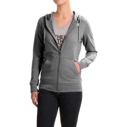 The North Face Lite Weight Full-Zip Hoodie (For Women) in Tnf Medium Grey Heather - Closeouts