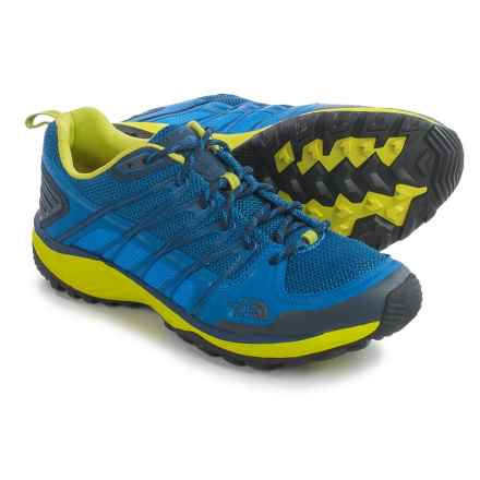 The North Face Litewave Explore Hiking Shoes (For Men) in Blue Quartz/Lantern Green - Closeouts