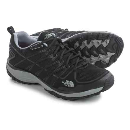 The North Face Litewave Explore Hiking Shoes (For Men) in Tnf Black/Metallic Silver - Closeouts