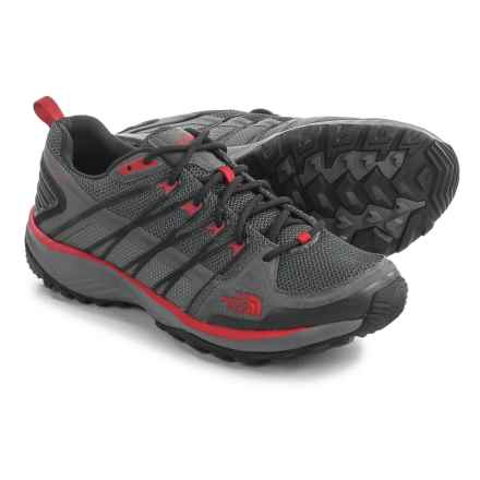 The North Face Litewave Explore Hiking Shoes (For Men) in Zinc Grey/Pompeian Red - Closeouts