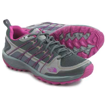 The North Face Litewave Explore Hiking Shoes (For Women) in Zinc Grey/Fuchsia Pink - Closeouts