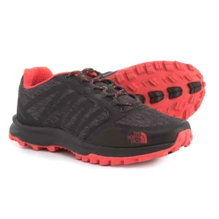 The North Face Litewave Fastpack Trail Running Shoes (For Women) in Phantom Grey/Cayenne Red - Closeouts