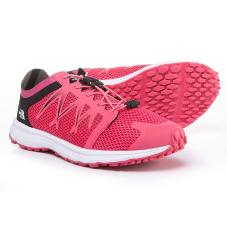 The North Face Litewave Flow Lace Sneakers (For Women) in Honeysuckle Pink/Tnf White