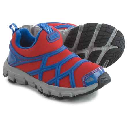 The North Face Litewave Shoes (For Toddlers and Little Kids) in Fiery Red/Marker Blue - Closeouts