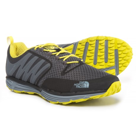 The North Face Litewave TR II Trail Running Shoes (For Men) in Zinc Grey/Acid Yellow