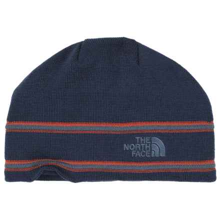 The North Face Logo Beanie - Merino Wool Blend in Cosmic Blue/Conquer Blue - Closeouts