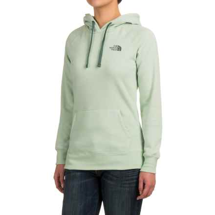 The North Face Logo Hoodie (For Women) in Subtle Green Light Heather (Std)/Balsam Green - Closeouts