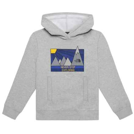 The North Face Logowear Hoodie (For Big Boys) in The North Face Light Grey Heather - Closeouts