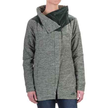 The North Face Long Pseudio Jacket (For Women) in Darkest Spruce Heather/Darkest Spruce - Closeouts