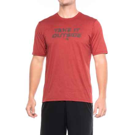 The North Face MA Reaxion T-Shirt - Short Sleeve (For Men) in Cardinal Red - Closeouts