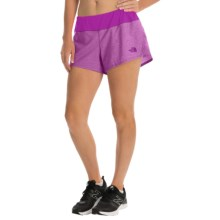 The North Face Ma-X Shorts - Built-In Briefs (For Women) in Magic Magenta Heather/Magic Magenta - Closeouts