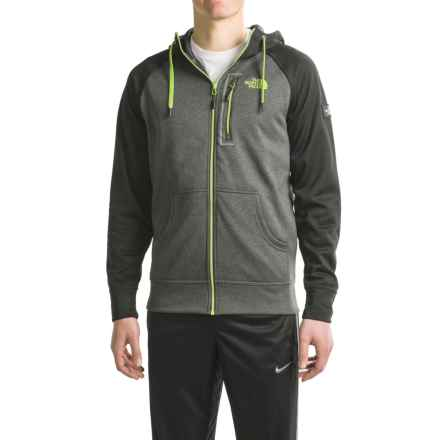 The North Face Mack Mays Hoodie - Zip Front (For Men) in Tnf Dark Grey Heather (Std)/Tnf Black - Closeouts