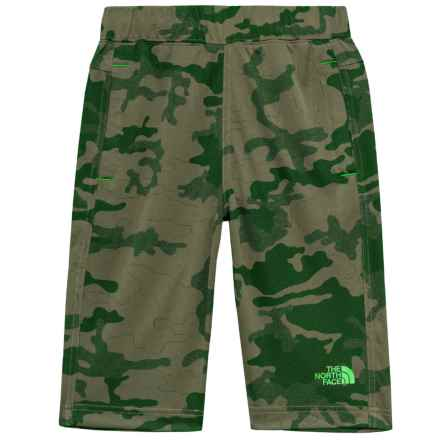 The North Face Mak Shorts (For Little and Big Boys) in Burnt Olive Green Woodland Camo Jacquard - Closeouts