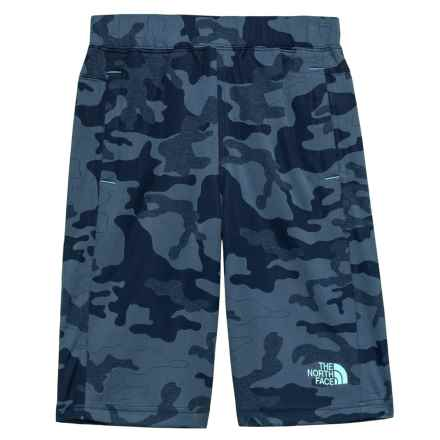 The North Face Mak Shorts (For Little and Big Boys) in Cosmic Blue Woodland Camo Jacquard - Closeouts