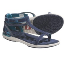 The North Face Manzanita Gladiator Sandals (For Women) in Deepwater Blue/Ivory - Closeouts