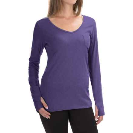 The North Face Maryl Shirt - V-Neck, Long Sleeve (For Women) in Hero Purple Heather - Closeouts