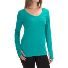 The North Face Maryl Shirt - V-Neck, Long Sleeve (For Women) in Kokomo Green Heather - Closeouts