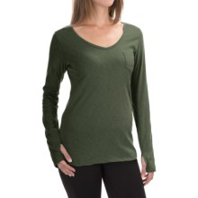 The North Face Maryl Shirt - V-Neck, Long Sleeve (For Women) in Oscar Green Heather - Closeouts