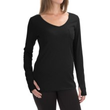 The North Face Maryl Shirt - V-Neck, Long Sleeve (For Women) in Tnf Black - Closeouts