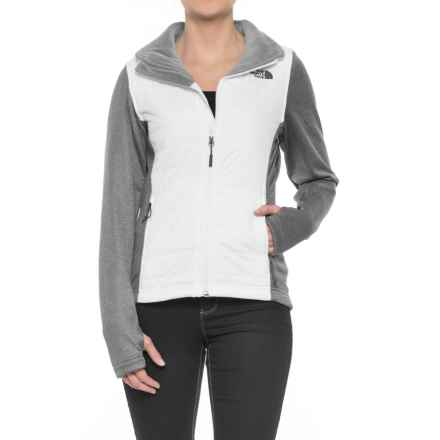 The North Face Mashup Jacket - Insulated (For Women) in Tnf White/Tnf Dark Grey Heather - Closeouts
