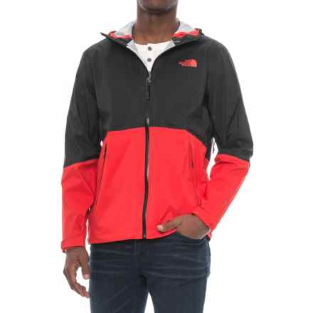 The North Face Matthes Jacket - Waterproof (For Men) in Tnf Black/Centennial Red - Closeouts