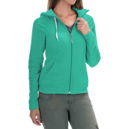 The North Face Mezzaluna Fleece Hoodie Jacket - Full Zip (For Women) in Kokomo Green Heather - Closeouts