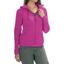 The North Face Mezzaluna Fleece Hoodie Jacket - Full Zip (For Women) in Luminous Pink - Closeouts