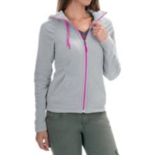 The North Face Mezzaluna Fleece Hoodie Jacket - Full Zip (For Women) in Mid Grey/Luminous Pink - Closeouts
