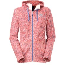 The North Face Mezzaluna Fleece Jacket (For Women) in Ember Glow Orange Confetti - Closeouts