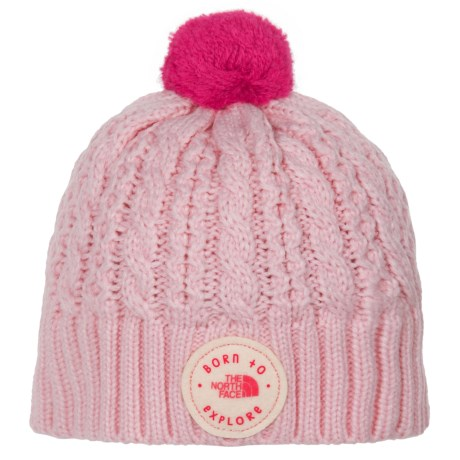 The North Face Minna Beanie (For Infants) in Coy Pink