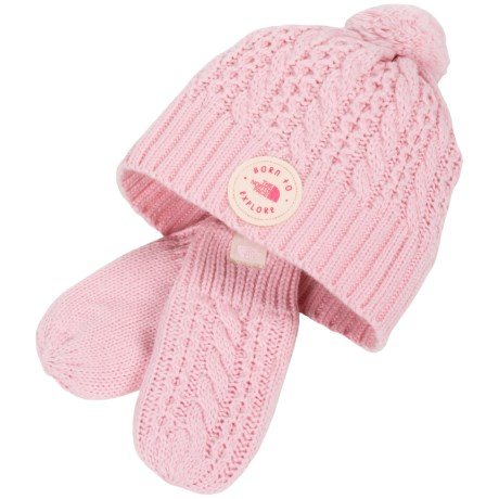 The North Face Minna Knit Beanie and Mittens Set (For Infants) in Coy Pink c009dc9c12fa