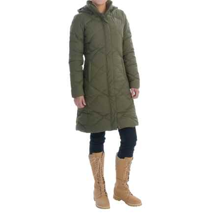 The North Face Miss Metro Down Parka - 550 Fill Power (For Women) in Forest Night Green Heather - Closeouts