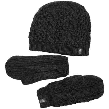 The North Face Mitten and Beanie Set (For Women) in Tnf Black - Closeouts