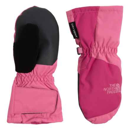 The North Face Mittens - Waterproof, Insulated (For Toddlers) in Cha Cha Pink/Cabaret Pink - Closeouts
