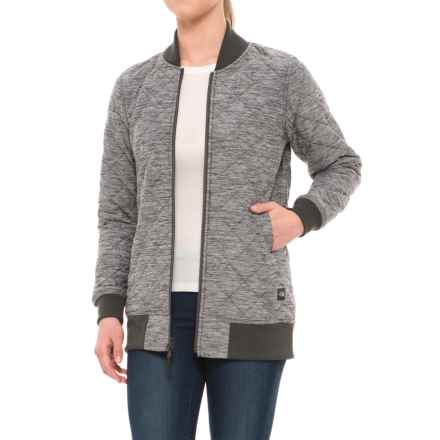 The North Face Mod Bomber Jacket - Insulated (For Women) in Tnf Dark Grey Heather - Closeouts