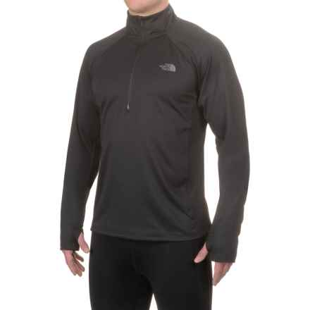 The North Face Momentum Fleece Shirt - Zip Neck, Long Sleeve (For Men) in Tnf Black - Closeouts