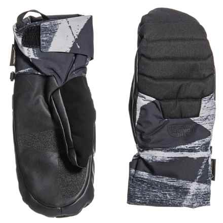The North Face Montana Gore-Tex® SG Mittens - Waterproof, Insulated (For Men) in Tnf Black/Graffiti Print - Closeouts