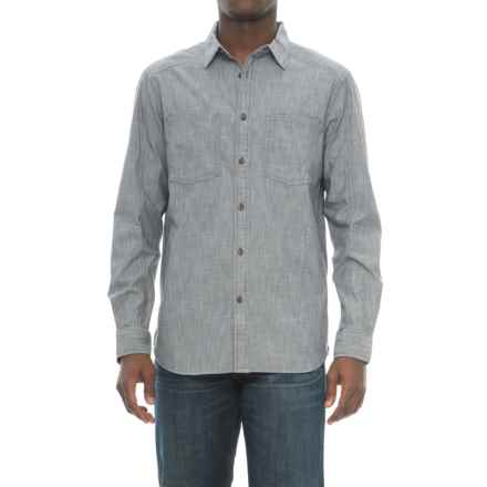 The North Face Montgomery Utility Shirt - Long Sleeve (For Men) in Asphalt Grey - Closeouts