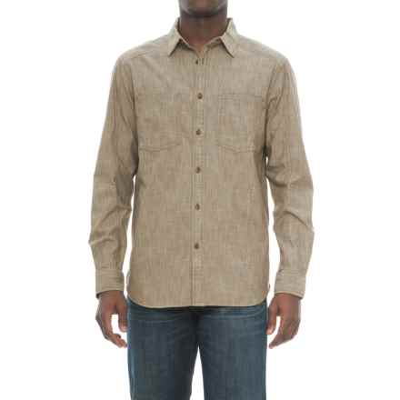 The North Face Montgomery Utility Shirt - Long Sleeve (For Men) in Burnt Olive Green - Closeouts