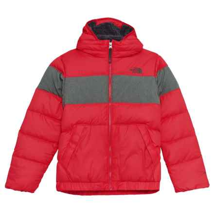 The North Face Moondoggy 2.0 Down Jacket - 550 Fill Power, Hooded (For Big Boys) in The North Face Red - Closeouts