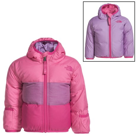 The North Face Moondoggy Down Jacket - Reversible, 550 Fill Power (For Infants) in Cha Cha Pink