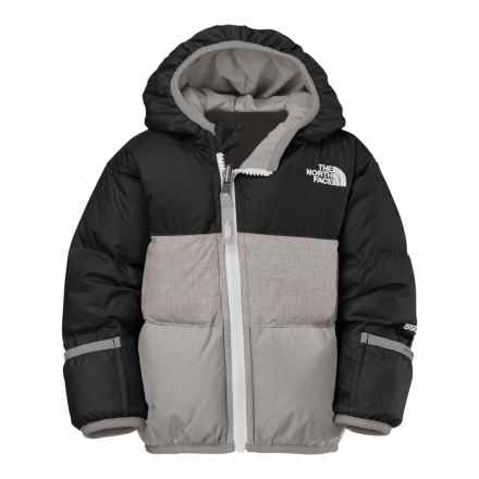 The North Face Moondoggy Down Jacket - Reversible, 550 Fill Power (For Infants) in Tnf Black/Metallic Silver - Closeouts