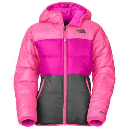 The North Face Moondoggy Down Jacket - Reversible, 550 Fill Power (For Little and Big Girls) in Gem Pink - Closeouts