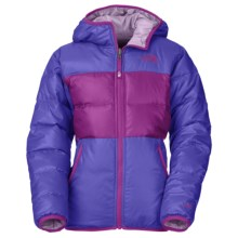 The North Face Moondoggy Down Jacket - Reversible, 550 Fill Power (For Little and Big Girls) in Starry Purple - Closeouts