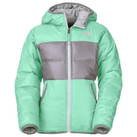 The North Face Moondoggy Down Jacket - Reversible, 550 Fill Power (For Little and Big Girls) in Surf Green - Closeouts