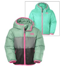 The North Face Moondoggy Down Jacket - Reversible, 550 Fill Power (For Toddler Girls) in Surf Green - Closeouts