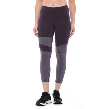 The North Face Motivation Capri Tights (For Women) in Dark Eggplant Purple - Closeouts